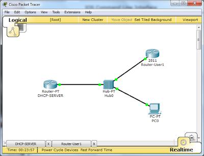 simulasi network DHCP Server