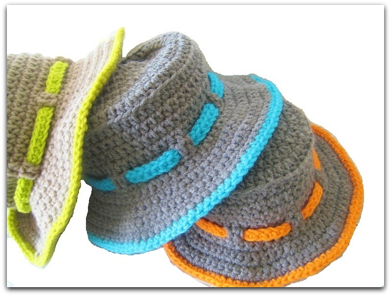 Free Crochet Newborn Sun Hat Pattern : Crochet Dreamz: Boys Sun Hat Crochet Pattern, Newborn to ...