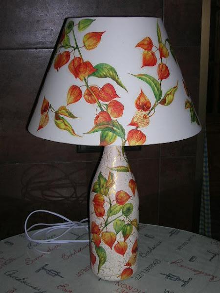 Lamparas con decoupage aprender manualidades es - Manualidades con lamparas ...