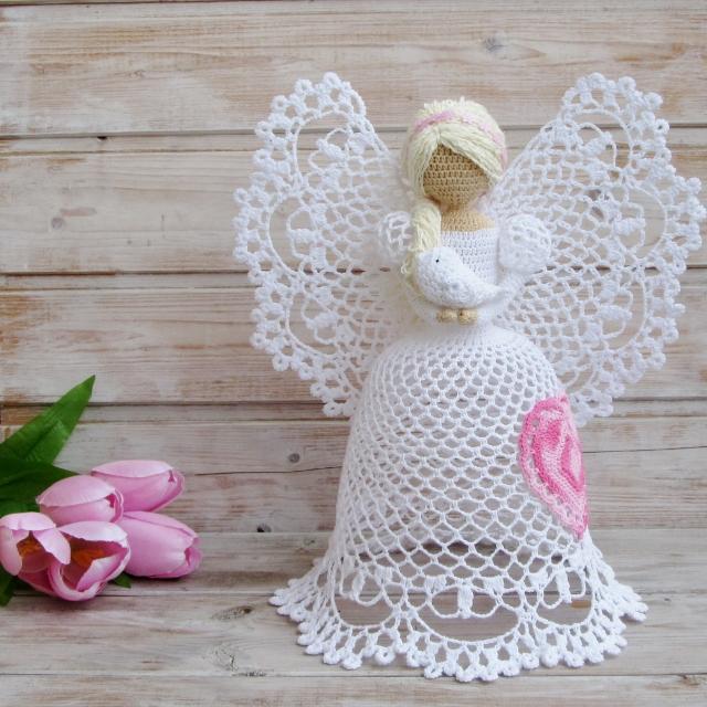 Самые красивые ажурные ангелы крючком