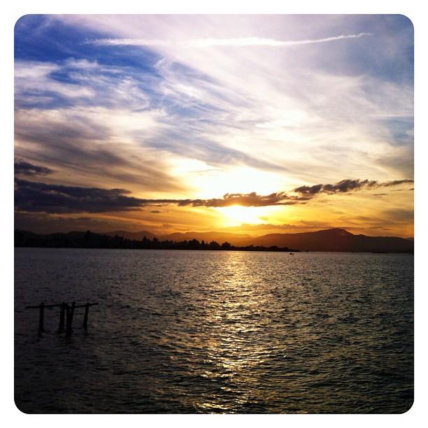 Por do sol no Trapiche da Av. Beira-Mar Norte - Florianópolis