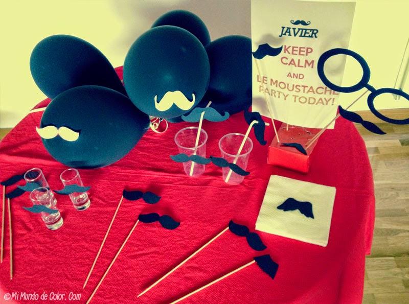 decorar fiesta de chicos con bigotes