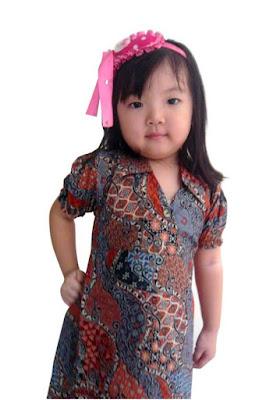 Model baju batik anak perempuan imut lucu dan menarik