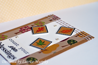 SRM Stickers Blog - Fall Cards by Latrice - #cards #fall #Thanksgiving #stickers #twine #CAS