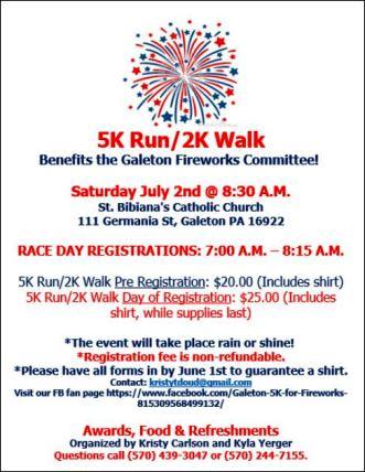7-2 5K Run/2K Walk