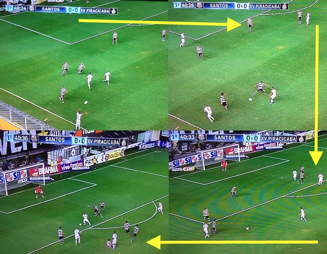 Gol do Santos contra XV de Piracicaba