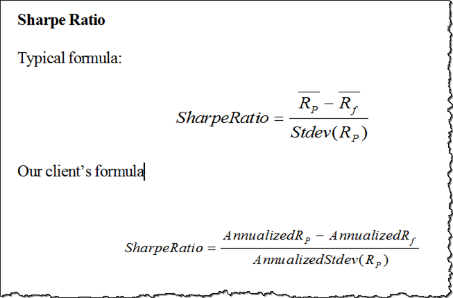 the sharpe ratio and the information From 1900-2007, the s&p 500 has had sharpe ratios per decade ranging from - 08 (the 1970s) to 14 (the 1950s) if you want more info on the.
