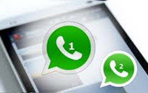 due account whatsapp su un telefono