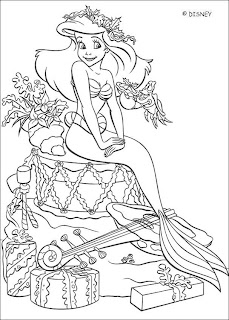 Ariel Printable Coloring Pages
