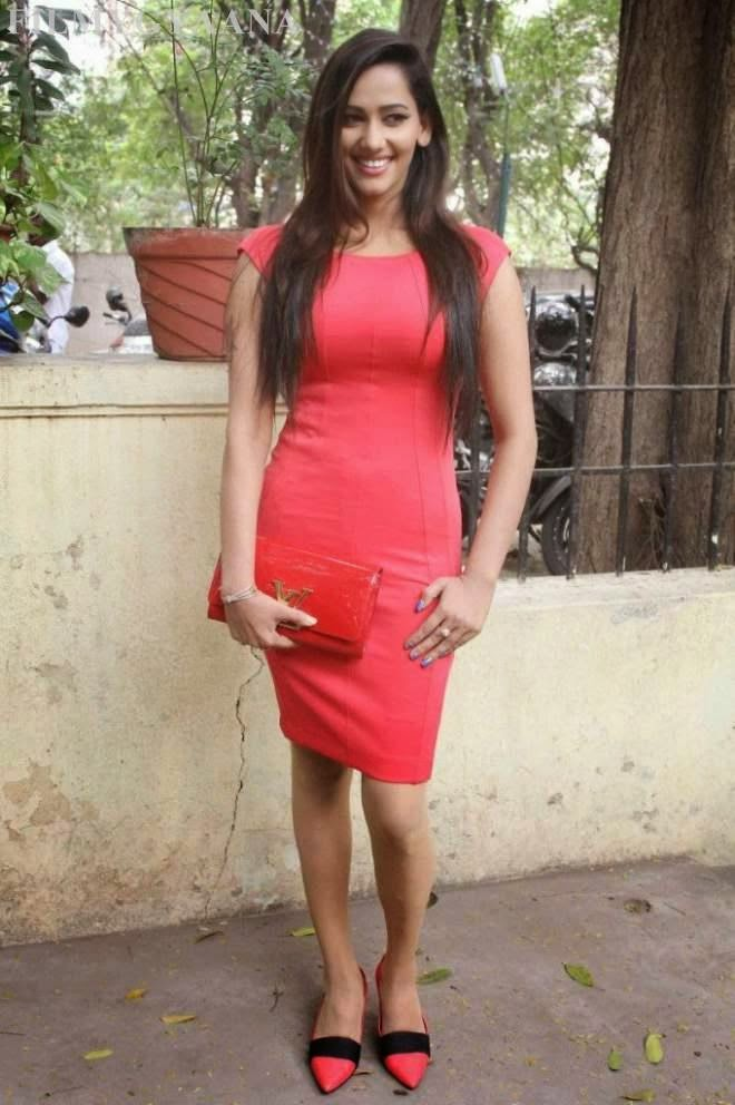 Sanjana Singh Hot Red Mini Skirt Photos