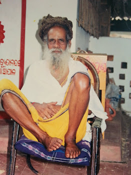 Baba seating front of pahadashram
