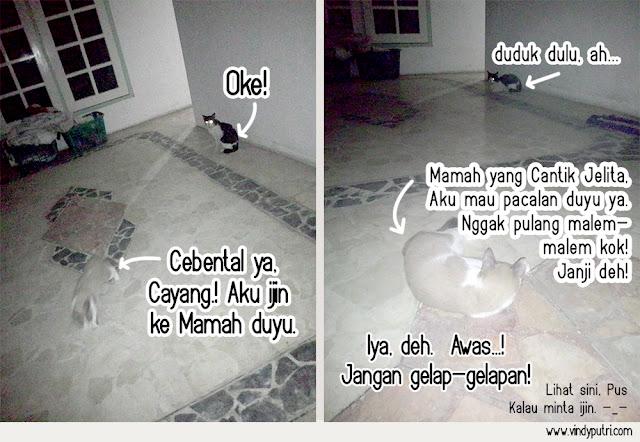 Komik Kucing - Puspus Mulai Pacaran 4