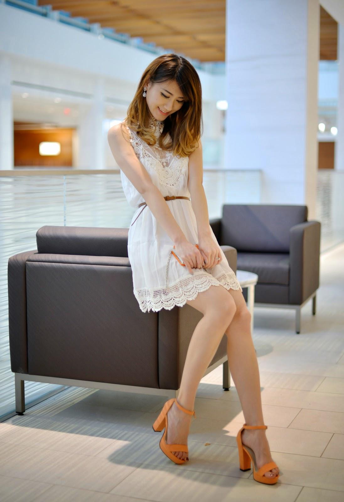 Lace Chiffon Mini Dress LookbookStore