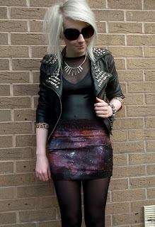 Sammi Jackson DIY galaxy skirt