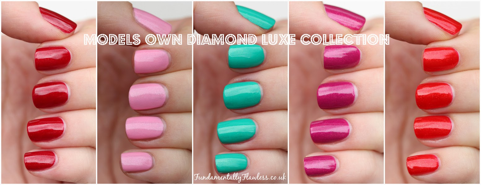 Models Own Diamond Luxe Collection Swatches and Review