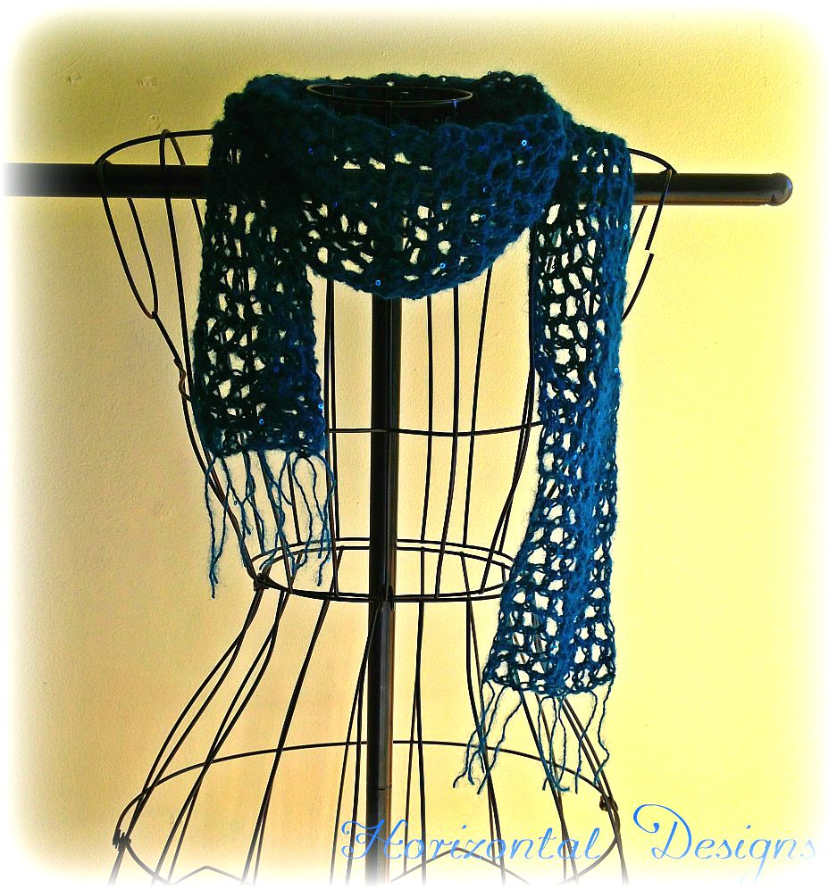 Studio Create: Free Crochet Pattern: Lacy Evening Scarf