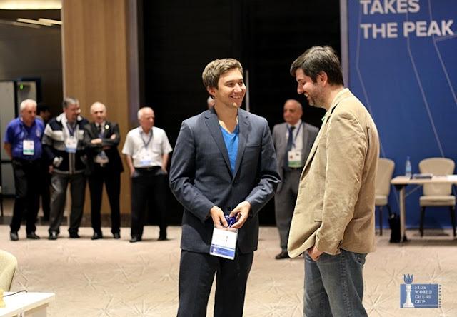 Sergey Karjakin y Peter Svidler finalistad de la Copa del Mundo de Ajedrez