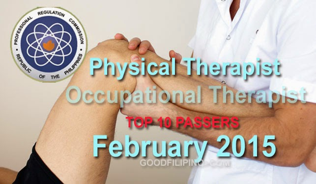 The February 2015 Top 10 Physical Therapists Board Passers Results