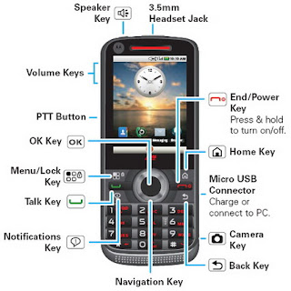 Motorola i886 Android-powered iDEN phone with dual keyboard 2