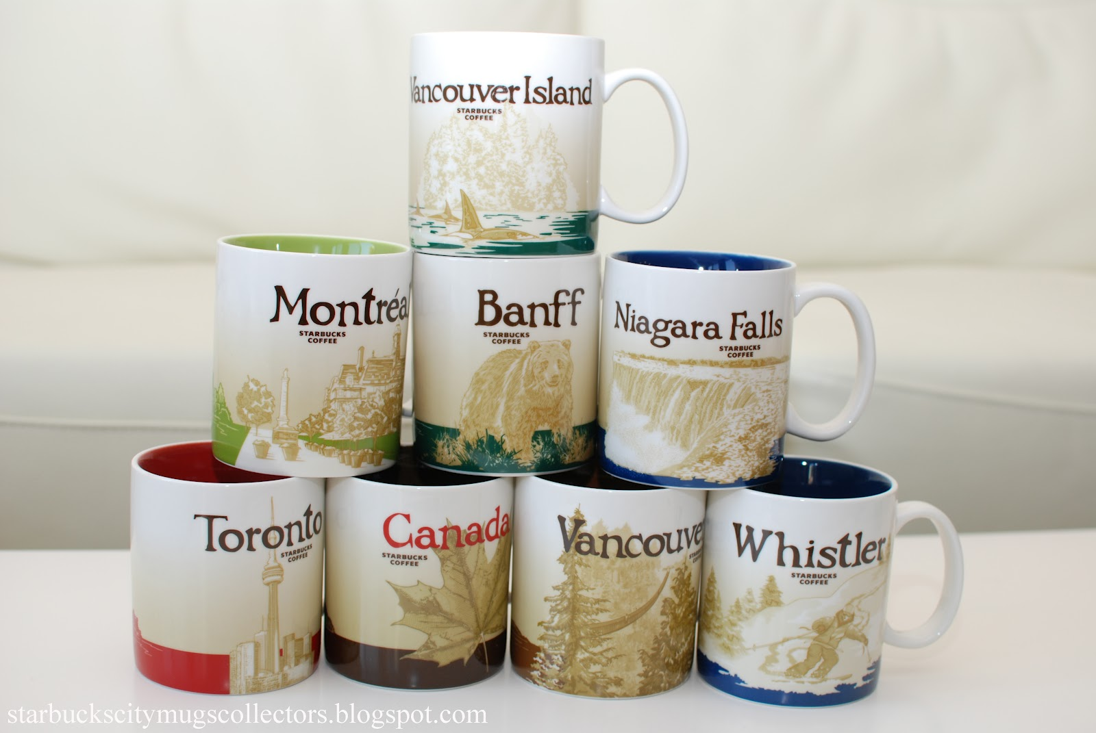 Starbucks City Mugs Canada Global Icons