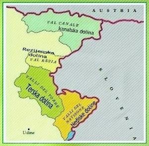 Territorio  tutelato dalla legge per la minoranza slovena