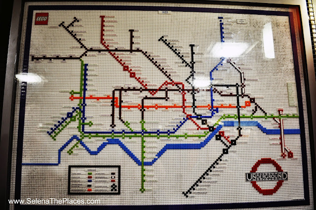 London Tube Map made from Legos