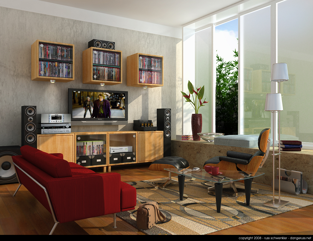 Tv lounge interior design and deco for Lounge interior design