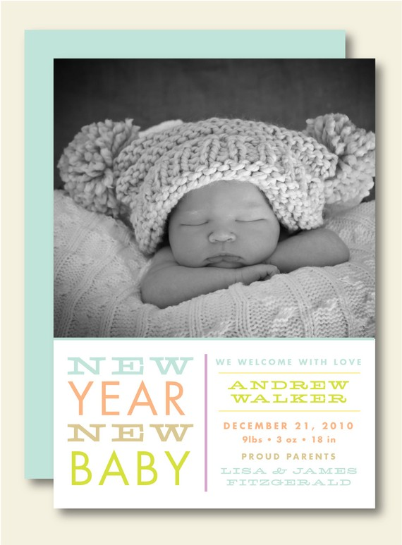 Jackie Fo Geographical Save The Date – New Years Birth Announcements