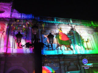 Mapping en Plaza de San Francisco - Sevilla, Navidad 2012 09