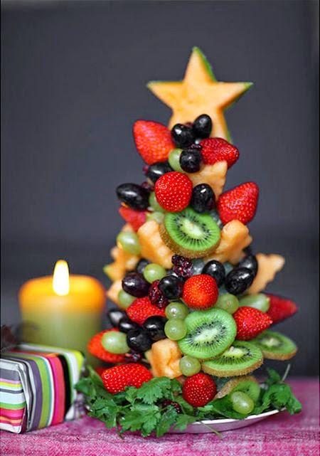 frutas para decorar o natal