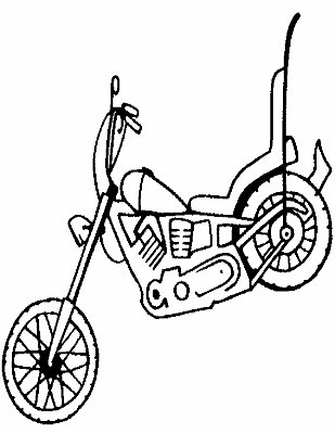 Harley Davidson Motorcycle Otomotive Coloring Pages