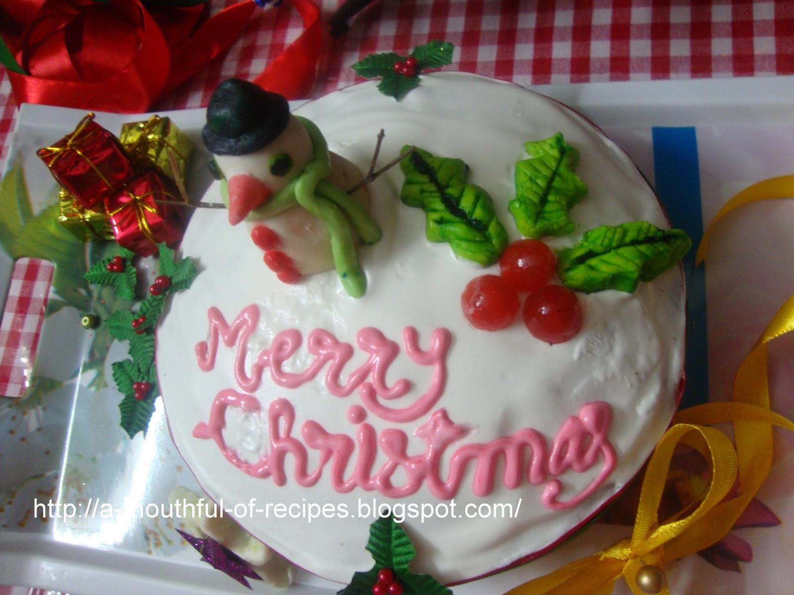 Christmas Glase Fruit Celebration Cake Recipe