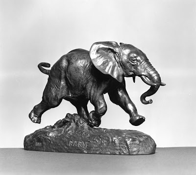 'African Elephant Running,' a sculpture by Antoine-Louis Barye