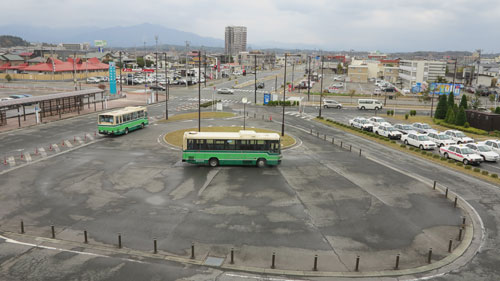 Buses at Akita Station East Exit
