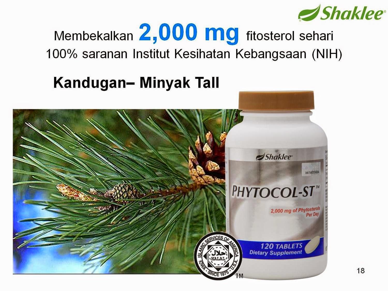 Phytocol-ST shaklee menurunkan kolestrol LDL