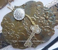 Antique Embossing Embellishment Close Up