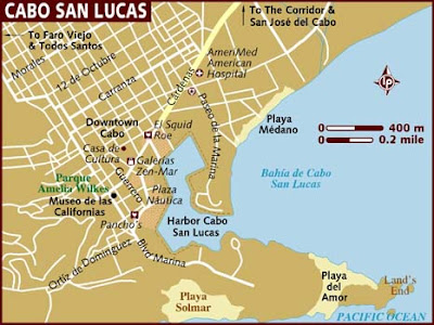 Map of Cabo San Lucas City Area