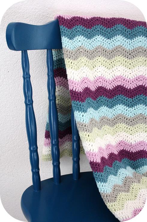 Crochet baby blanket eco yarn