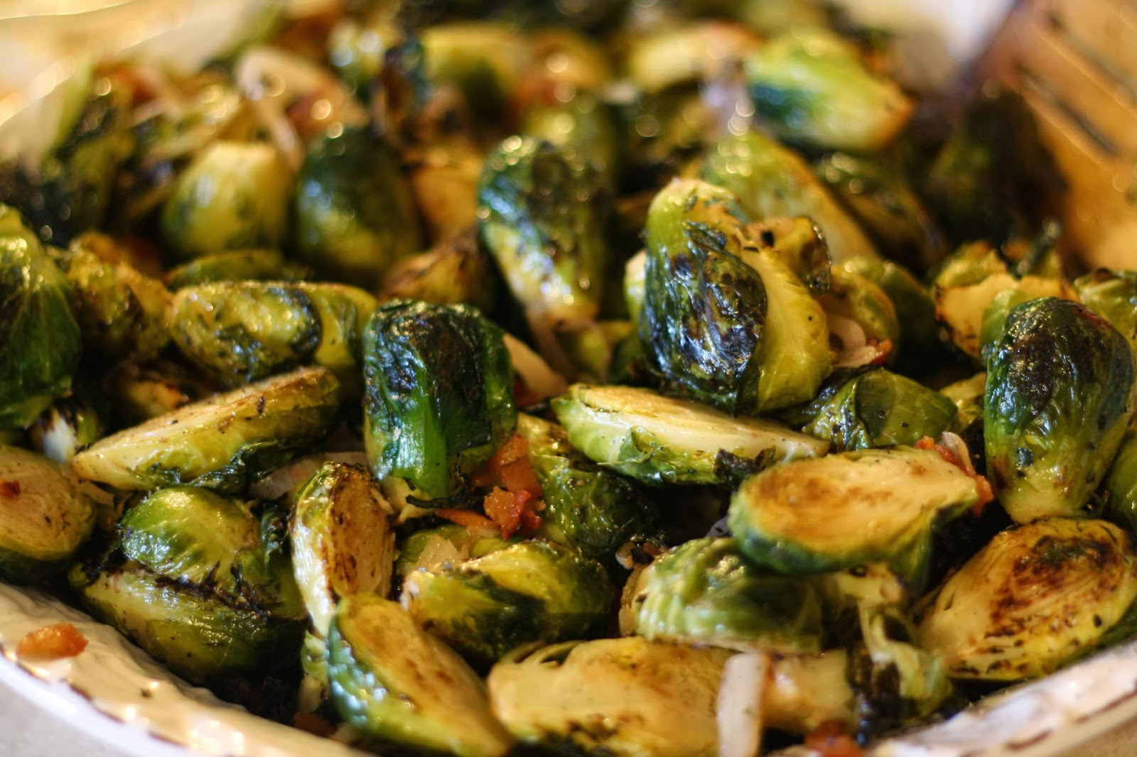 ... According to Ruth: Grilled Brussels Sprouts with Bacon and Shallots
