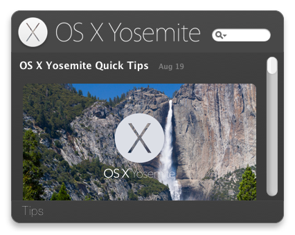 OS X Yosemite Tips