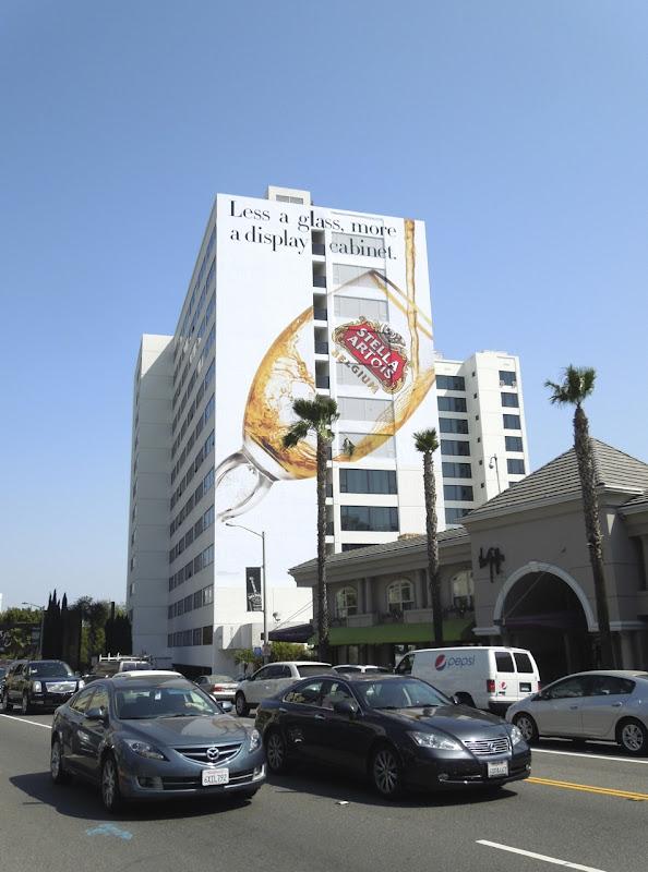 Giant Stella Artois display cabinet Mondrian Hotel billboard