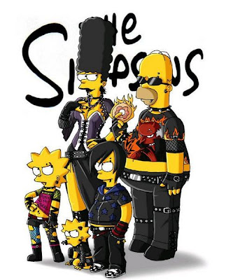 Simpsons vestidos de Emos