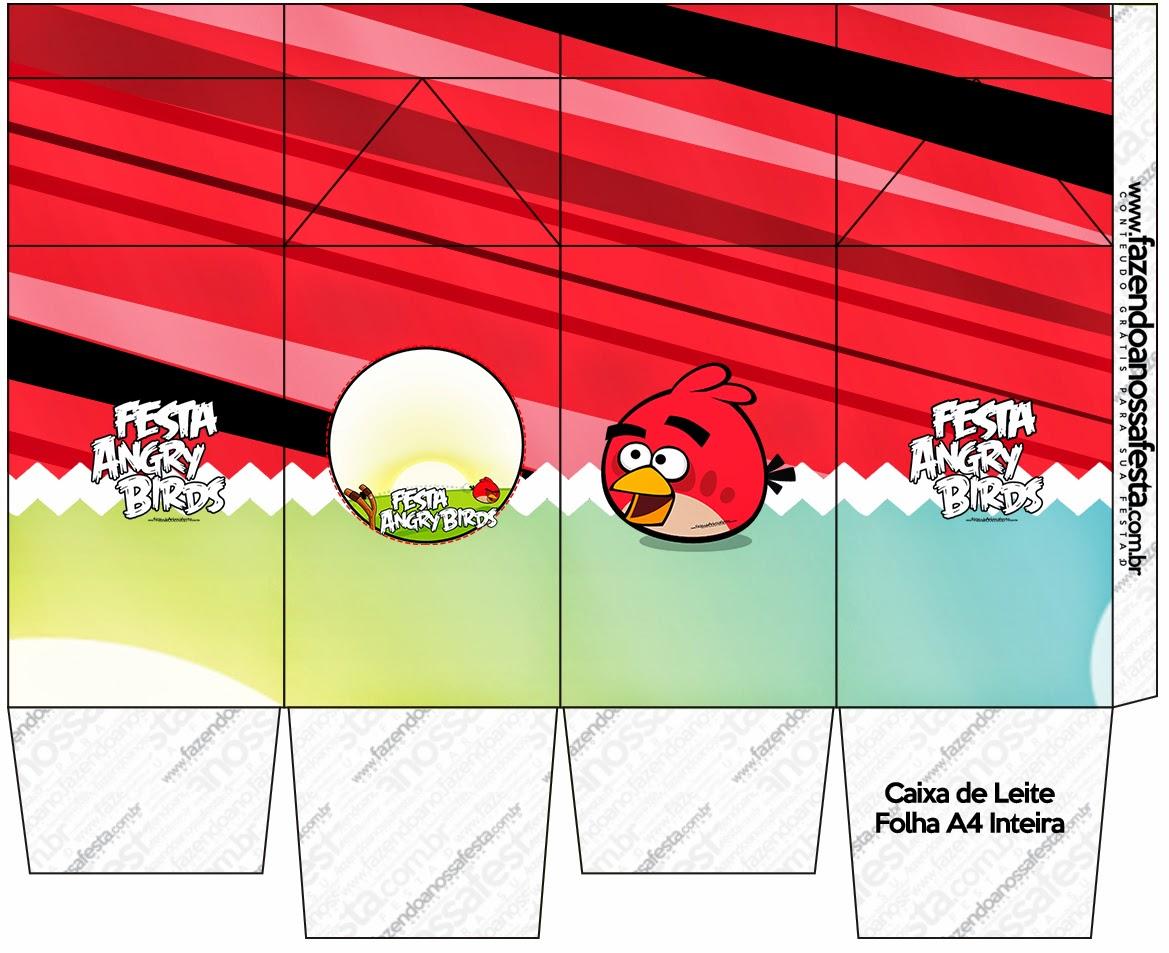 Cajas Angry Birds de para imprimir gratis.