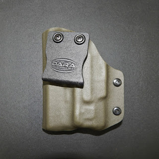 xds 3.3 holster, xds holster, green holster, kydex holster, holster for light attachment, holster for gun with light, c5l holster , xds with c5l holster, iwb for xds 3.3, iwb holster for xds 3.3, kydex iwb holster for xds
