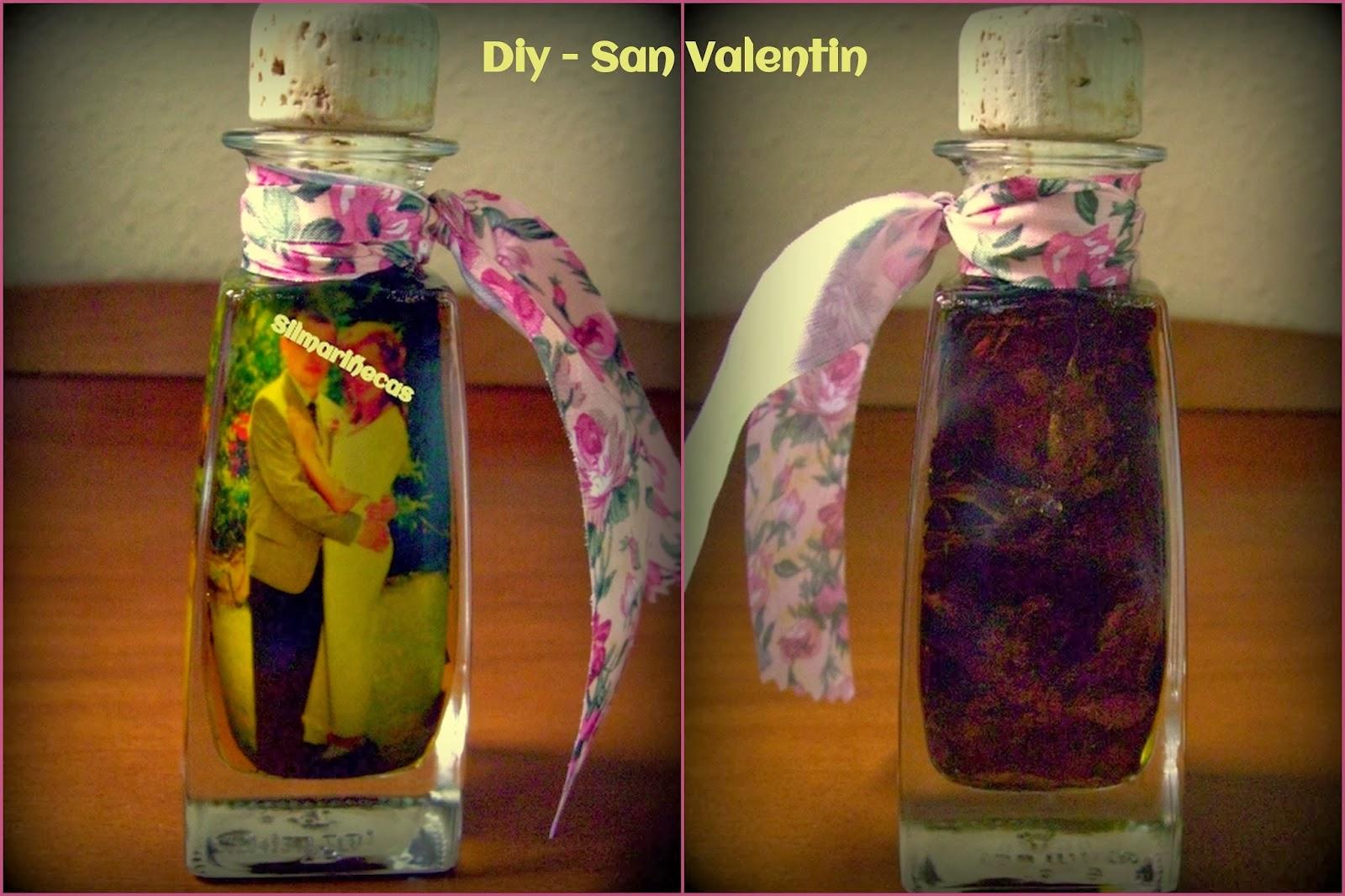 tutorial de botella con foto y aceite-