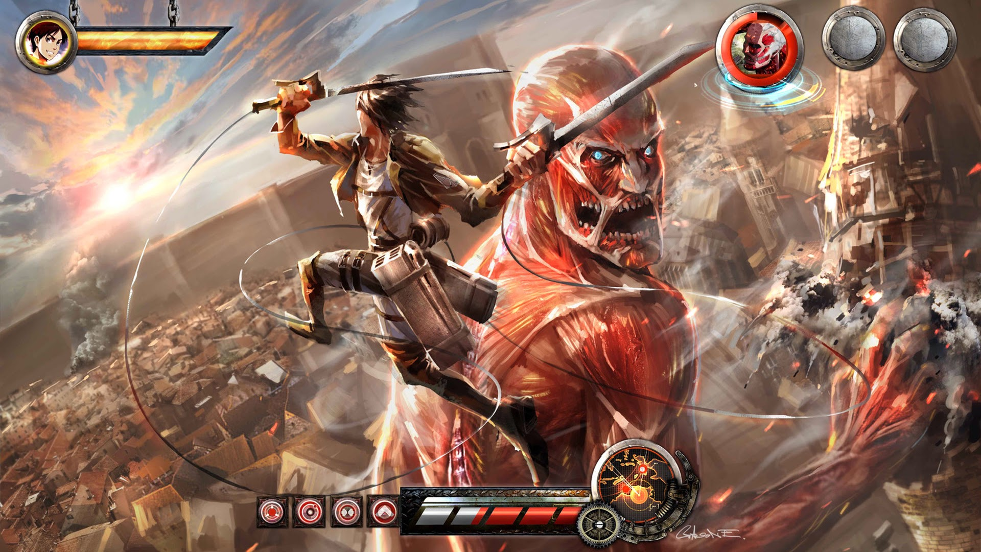 Attack On Titan Game Theme 55 HD Wallpaper