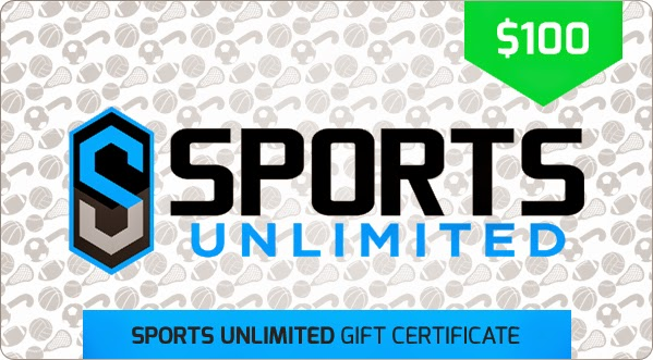 Enter the Sports Unlimited $100 Gift Certificate Giveaway. Ends 7/14.