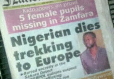 cries of african migrants