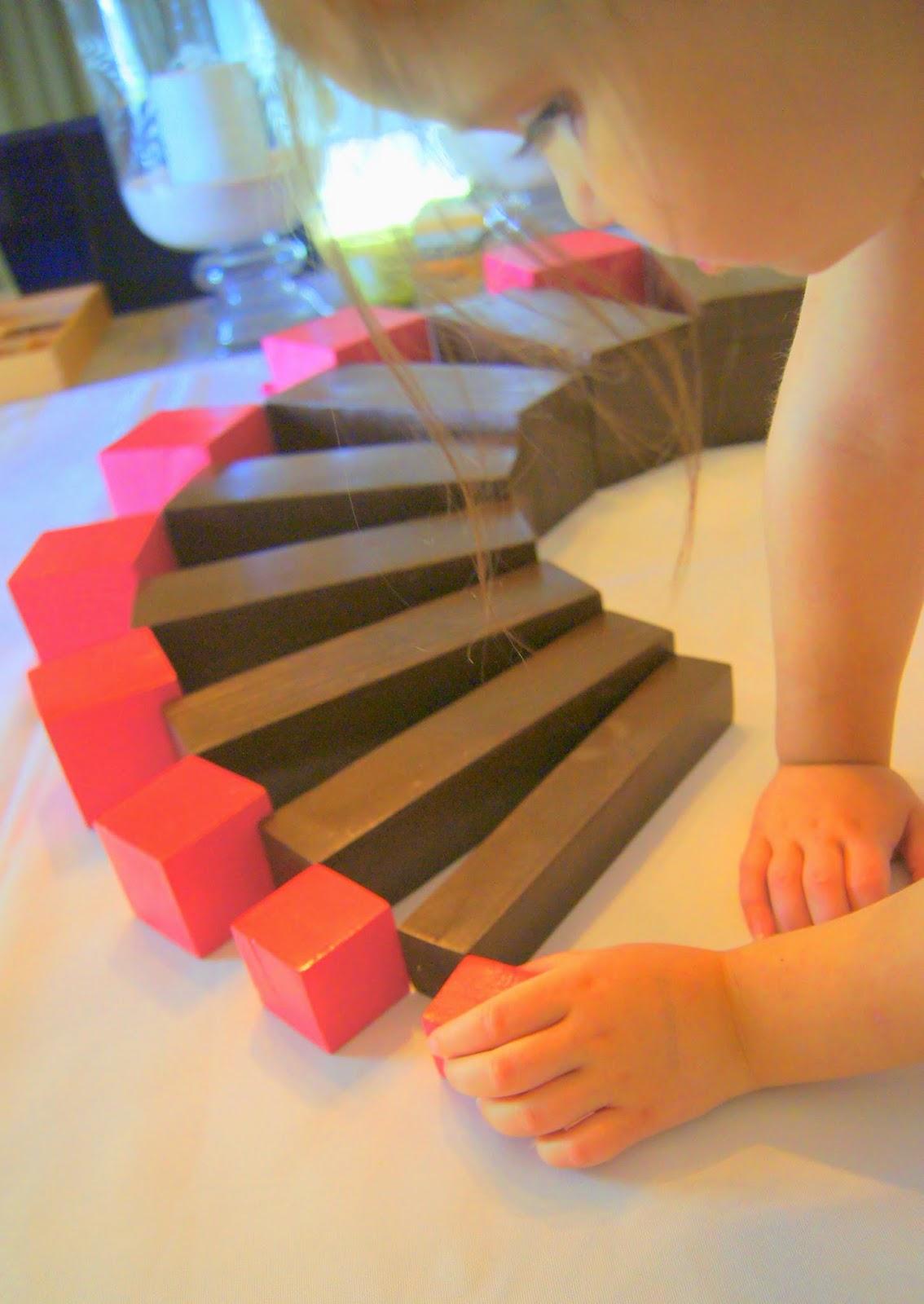 DIY Montessori Pink Tower & Brown/Broad Stair