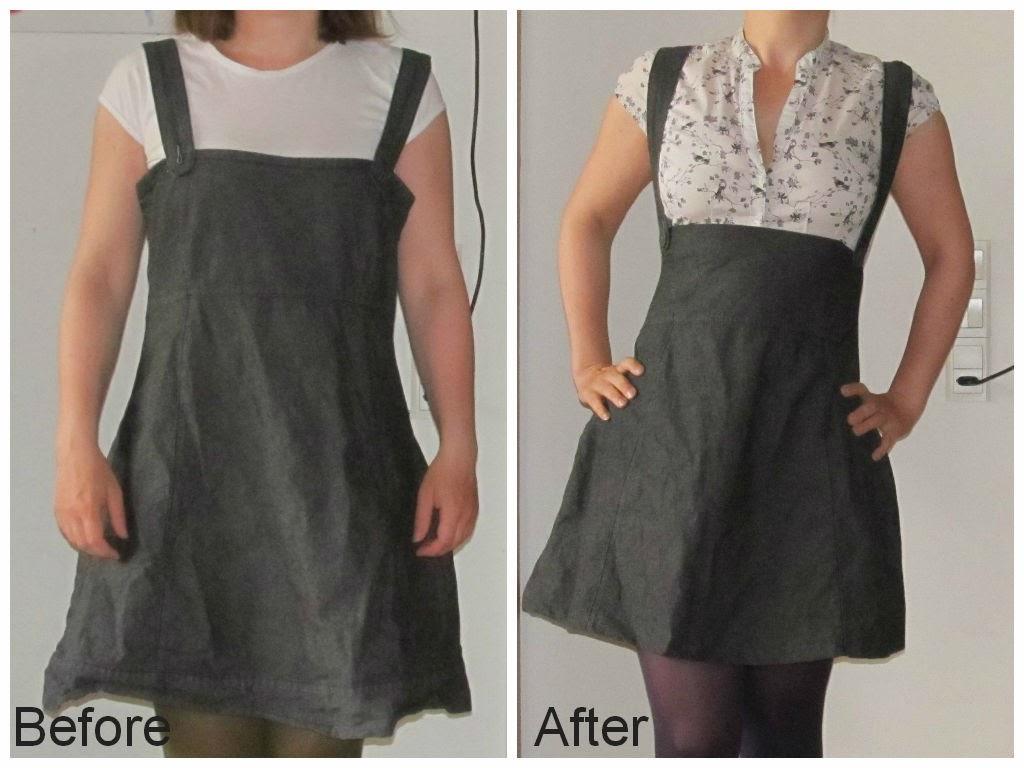 Saga i farver: Kjole til nederdel med seler